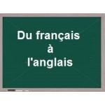 Du français à l'anglais