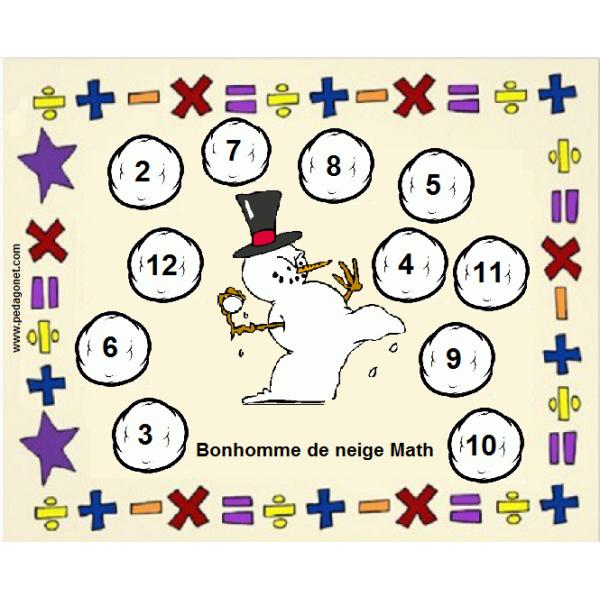 Bonhomme de neige - Math